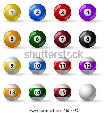 Pool - billiard balls