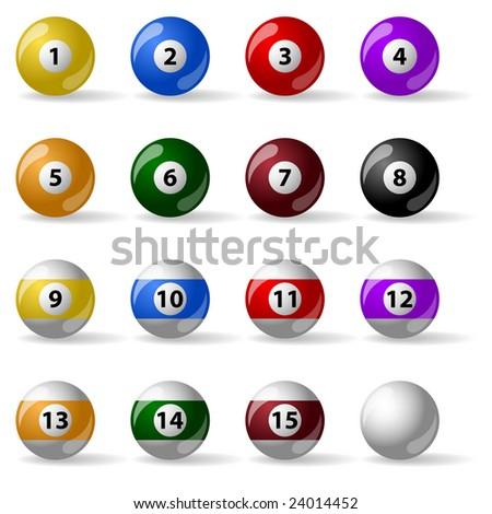 Pool - billiard balls