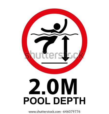 pool depth sign