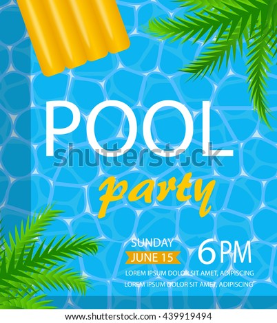 pool or summer party invitation