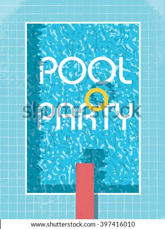 pool party invitation poster ...