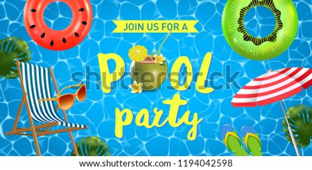 pool party invitation card download free vector art stock