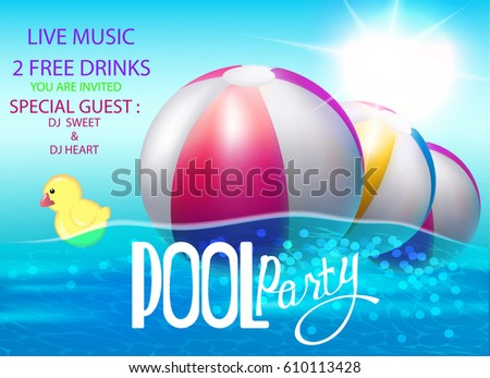 pool party poster with