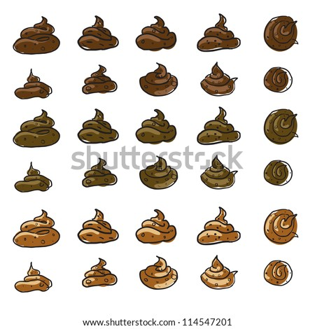 Poop or feces set