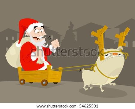 Poor Suburb Santa