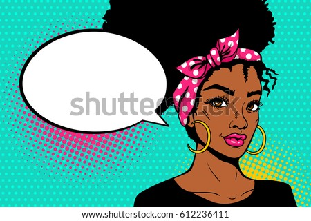 pop art afro american female