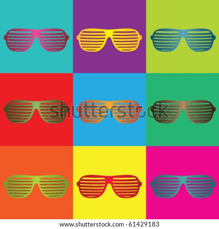 Pop art and sunglasses