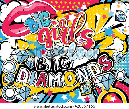 pop art big girl love big