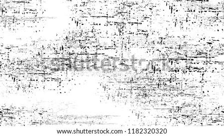 Pop Art Black and White Distress Grunge Brush Texture. Distressed Grungy Seamless Pattern Design. Faded Dyed Paper Texture. Sketch Cartoon Pop Art Design Pattern.