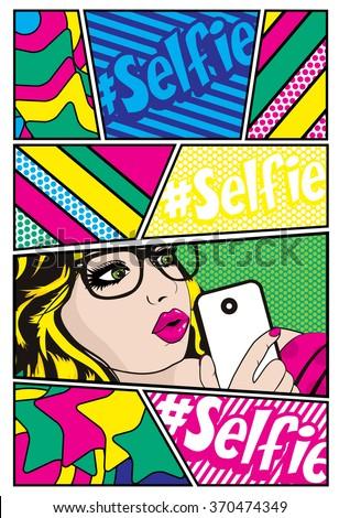 pop art card vector
