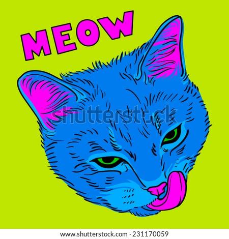 Pop-art cat