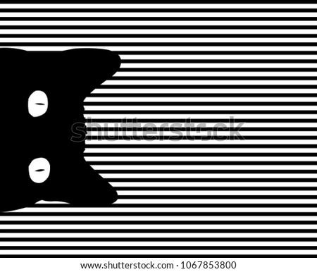 pop art cat striped background