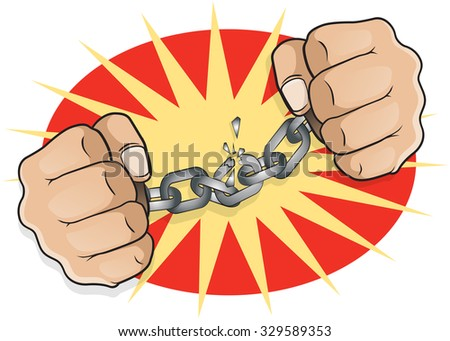 pop art chained fists great
