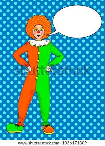 pop art clown vector