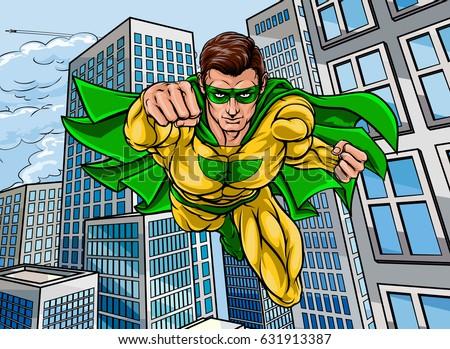 pop art comic book super hero