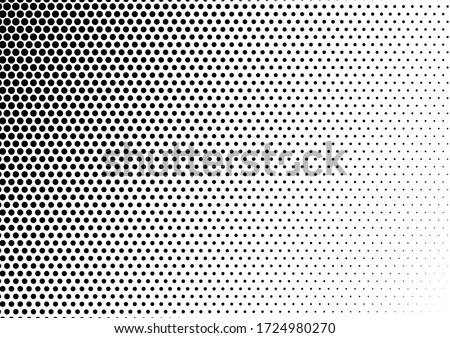 Pop-art Dots Background. Abstract Overlay. Monochrome Pattern. Halftone Distressed Backdrop. Vector illustration Stock fotó ©