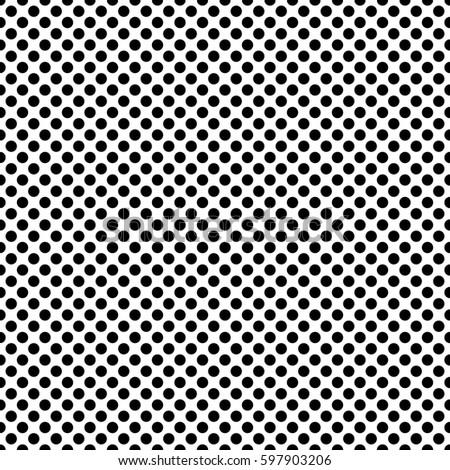 pop art dots background black
