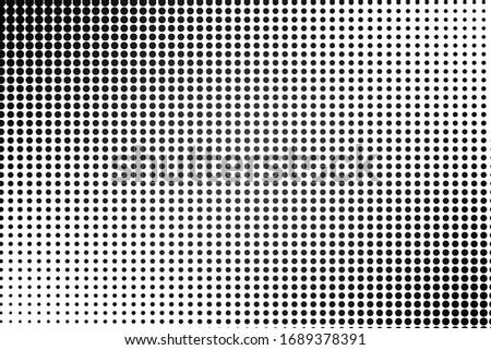 Pop art dots background. Geometric vintage monochrome fade wallpaper.  Halftone black and white geometric  design. Pop art print. Retro pattern. Comics book magazine cover. 90-s style.