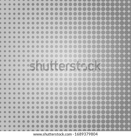 Pop art dots background. Geometric vintage monochrome fade wallpaper.  Halftone grey geometric  design. Pop art print. Retro pattern. Comics book magazine cover. 90-s style.