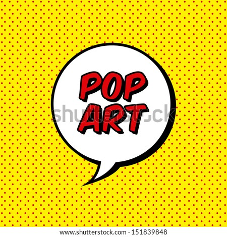 pop art explosion over dotted
