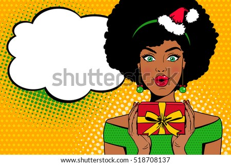 pop art face sexy afro