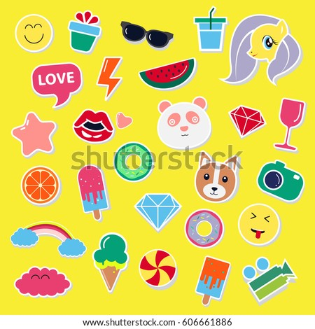 pop art fashion chic patches