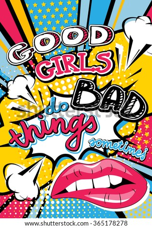 pop art good girls do bad