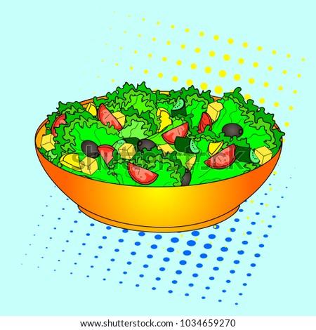 pop art greek salad or