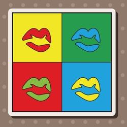 pop art lipstick theme elements