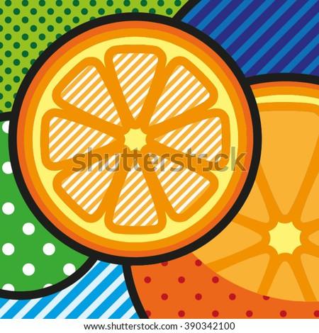 pop art oranges vector pop art
