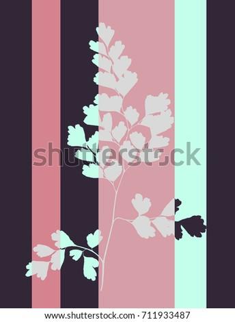 pop art  style tabby herbarium