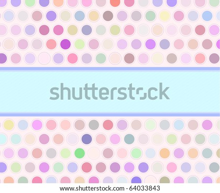 Pop art vector retro card - stock vector