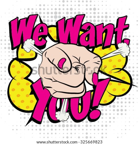 pop art   we want you  sign