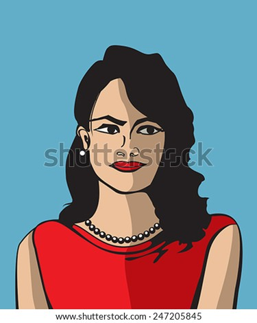 pop art woman avatar