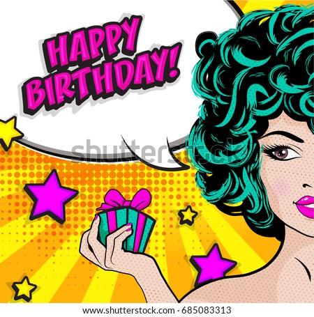 Comic Style Happy Birthday Illustration Download Free Vector Art