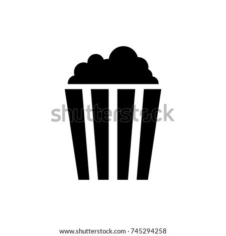 pop corn icon, pop corn icon vector, in trendy flat style isolated on white background. pop corn icon image, pop corn icon illustration
