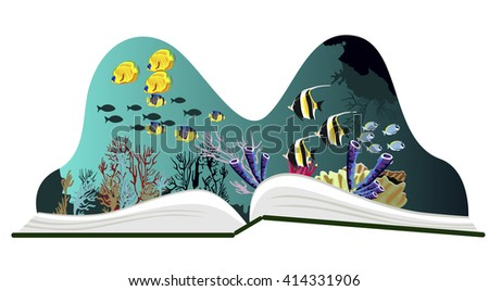 pop up book with underwater