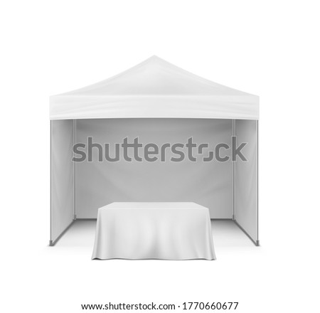 pop up gazebo and table covered