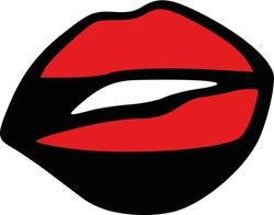 Popart lips mouth