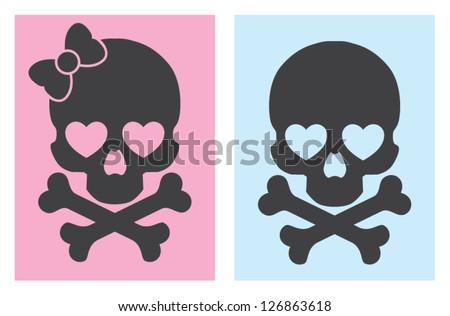 popart skulls