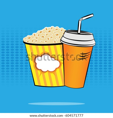 popcorn and a drink on a