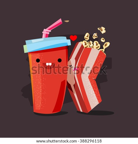 popcorn and soda character of