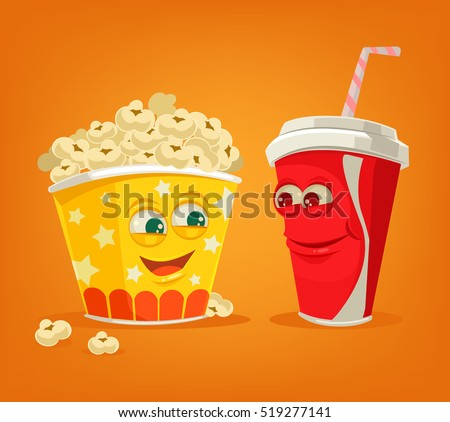 popcorn and soda characters