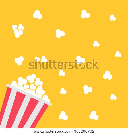 popcorn bag cinema icon in