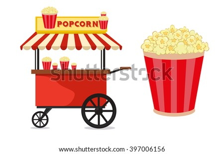 popcorn cart carnival store and