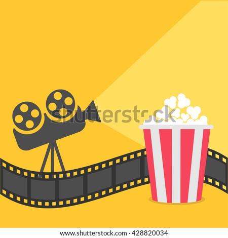 popcorn film strip border