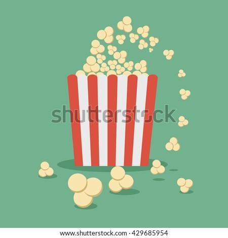 Popcorn flat vector, Popcorn icon, Popcorn concept logo, for banner