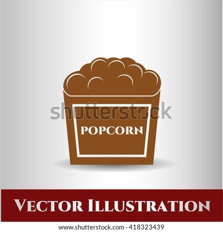 Popcorn icon or symbol
