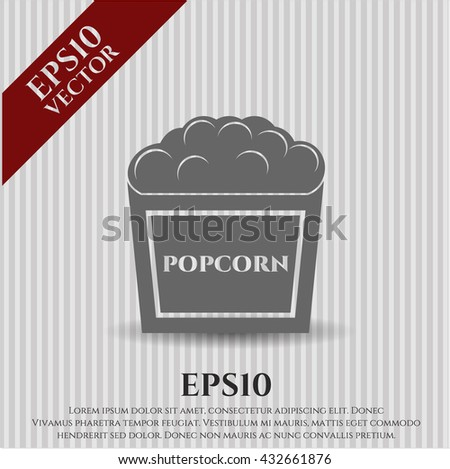 popcorn icon vector symbol flat eps jpg app web concept website