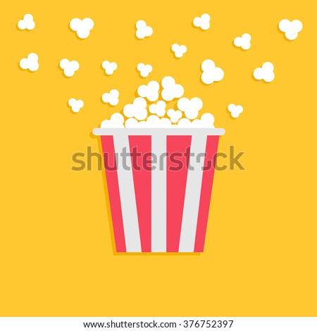 popcorn popping red yellow